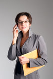 Beautiful business woman talking on cellphone Royalty Free Stock Photo