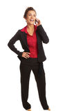 Beautiful business woman talking on cellphone Royalty Free Stock Images