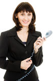 Beautiful business woman talking on the phone Royalty Free Stock Image