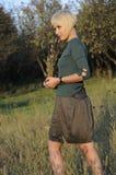 Beautiful business woman walking Stock Images