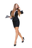 Beautiful business woman walking Stock Images