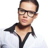 beautiful business woman wearing glasses Stock Image