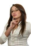 Beautiful business woman wearing glasses Stock Photography