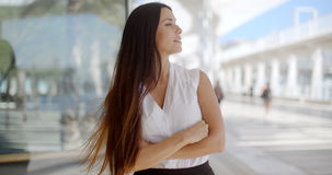 Beautiful Business Woman in White Shirt Royalty Free Stock Photo