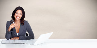 Beautiful business woman. Stock Images