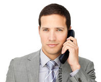 Beautiful businessman on phone Royalty Free Stock Images