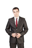 Beautiful businessman in suit tie Stock Photography