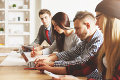 Beautiful businesspeople working together Royalty Free Stock Images