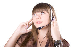 The beautiful businesswoman Royalty Free Stock Image