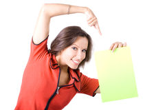 The beautiful businesswoman Royalty Free Stock Photos