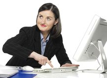 The beautiful businesswoman Royalty Free Stock Photo
