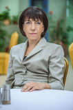 Beautiful businesswoman in bright suit Royalty Free Stock Photography