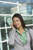 Beautiful Businesswoman On Call Royalty Free Stock Photo