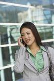 Beautiful Businesswoman On Call Royalty Free Stock Photo