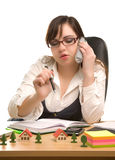 Beautiful businesswoman calling by phone Royalty Free Stock Photo
