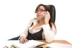 Beautiful businesswoman calling by phone Royalty Free Stock Image