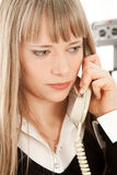 Beautiful businesswoman calling by phone Stock Images