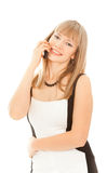 Beautiful businesswoman calling by phone Stock Photos