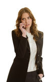 Beautiful businesswoman calls Stock Images