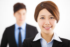 Beautiful businesswoman with colleagues Royalty Free Stock Image