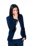 Beautiful businesswoman covering her mouth Royalty Free Stock Images