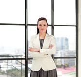 Beautiful businesswoman with folded arms Royalty Free Stock Images