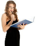 Beautiful businesswoman with a folder Stock Images