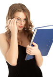 Beautiful businesswoman with a folder Stock Photo