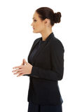 Beautiful businesswoman in formal suit. Royalty Free Stock Images