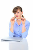 Beautiful businesswoman with glasses Royalty Free Stock Photo