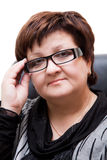 Beautiful businesswoman with glasses Stock Photography