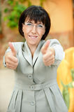 Beautiful businesswoman with glasses Royalty Free Stock Photos
