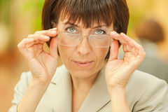 Beautiful businesswoman with glasses Stock Photos