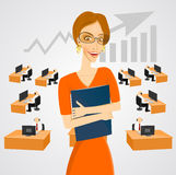 Beautiful businesswoman in glasses Royalty Free Stock Photography