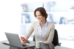 Beautiful businesswoman having a phone conversation Royalty Free Stock Images