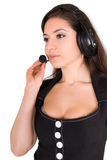 Beautiful businesswoman with headset Royalty Free Stock Images