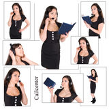 Beautiful businesswoman with headset Stock Images