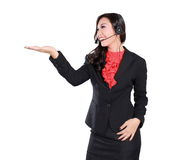 Beautiful businesswoman with headset Royalty Free Stock Image