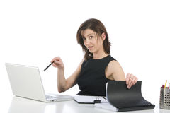 Beautiful businesswoman in her office Stock Photo