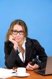 Beautiful businesswoman holding Stock Image