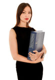 Beautiful businesswoman holding a folder Stock Photography