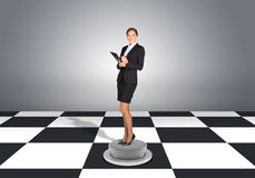 Beautiful businesswoman holding folder Royalty Free Stock Image