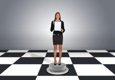 Beautiful businesswoman holding folder Stock Photography
