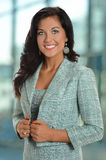 Beautiful Businesswoman Inside Office Building Stock Images