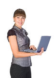 Beautiful businesswoman with laptop Stock Photography