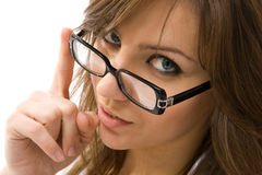 Beautiful Businesswoman Looking At Camera. Royalty Free Stock Photography