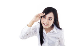 Businesswoman looking at copyspace Royalty Free Stock Image