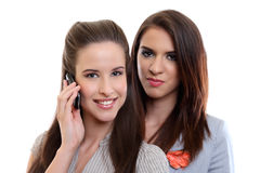 Beautiful businesswoman making a call Royalty Free Stock Images