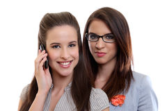 Beautiful businesswoman making a call Royalty Free Stock Photography