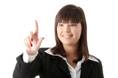 Beautiful businesswoman making choice Royalty Free Stock Photo